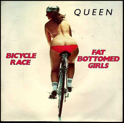 La cover del singolo Bicycle Race/Fat Bottomed Girls